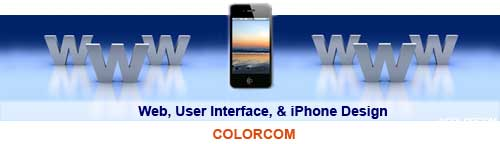 Website - User Interface - iPhone App Design -Colorcom