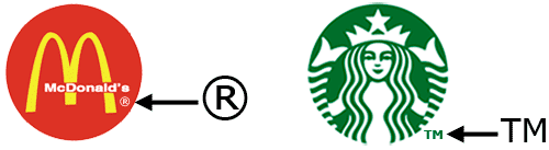 Example of a brand image with the TM and R symbol
