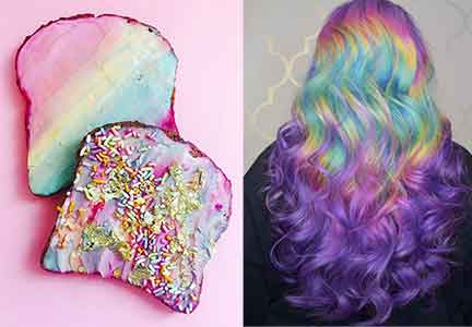 Unicorn rainbow colors