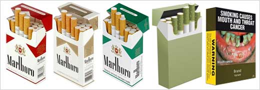 color and cigarette brands