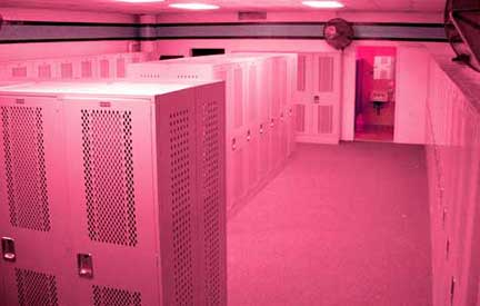 pink locker room