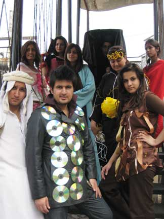 Group 2 students in symbolic dress